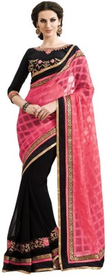 Shoppershopee Self Design Kantha Cotton Sari
