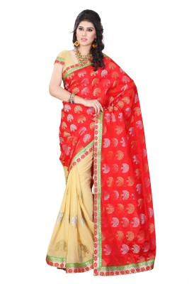 Diva Fashion-Surat Embriodered Bollywood Handloom Jacquard, Georgette Sari