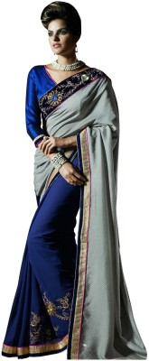 MaxCart Enterprises Embriodered Bollywood Chiffon Sari