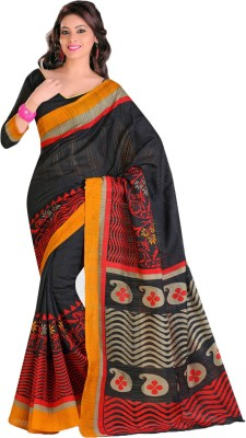Urban Vastra Solid Bhagalpuri Jute Sari