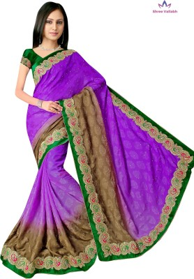 Shree Vallabh Embriodered Fashion Georgette Sari
