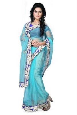 SNV Fashion Solid Fashion Net Sari