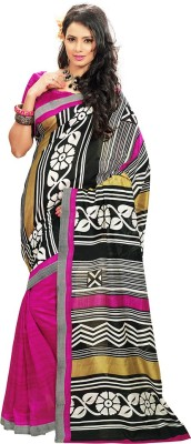 Fashiondodo Printed Daily Wear Silk Cotton Blend Sari