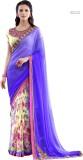 H Raj Floral Print Fashion Georgette Sar...