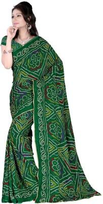 Raul Zone Printed Bandhani Cotton Sari