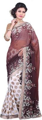 Rudraksh Fashion Embriodered Fashion Chiffon Sari