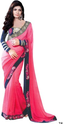 Al Zareen Embellished, Embriodered Fashion Georgette Sari