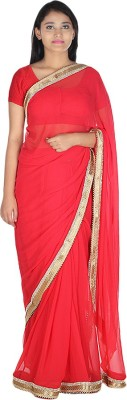 Saree Street Plain Fashion Georgette Sari