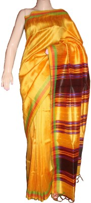 KBANKISH Self Design Bhagalpuri Handloom Tussar Silk Sari