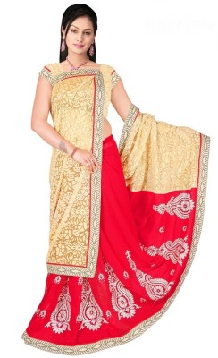 Lime Fashion Self Design Bollywood Pure Georgette Sari