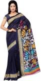 3NH Printed Bhagalpuri Khadi Saree (Blue...
