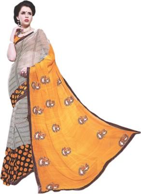 BPS Printed, Embriodered, Embellished Fashion Georgette Sari