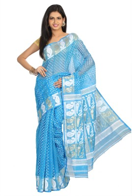 Crochetin Woven Jamdani Cotton Sari