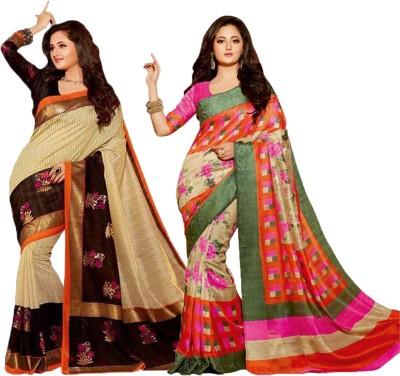 Varanga Printed Banarasi Silk Sari