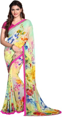 Renishafashion Printed Fashion Georgette Sari