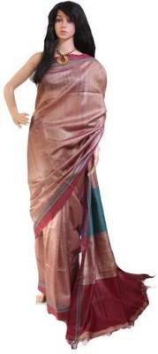 Anukriti Solid Bhagalpuri Tussar Silk Sari