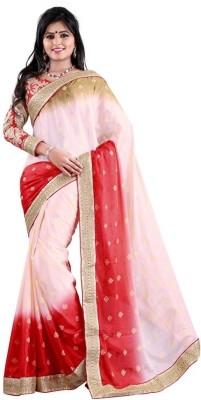 Jay Textile Self Design Fashion Brasso Sari