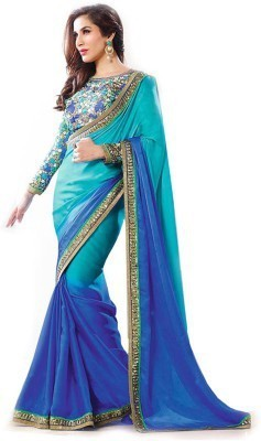 ST saree Solid Bollywood Art Silk Sari