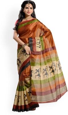 Nityagata Floral Print Fashion Art Silk Sari