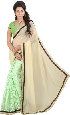 Jagdamba Creation Woven Fashion Chiffon Sari