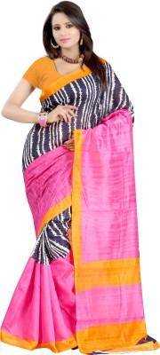Raj Creative Striped, Printed Bhagalpuri Handloom Silk Sari