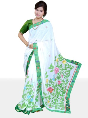 Maitri Printed Tant Cotton Sari