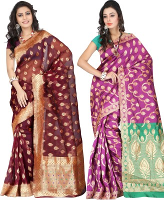 Indi Wardrobe Woven Banarasi Handloom Banarasi Silk Sari