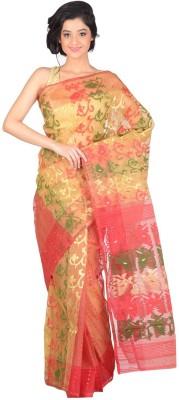 Rudrakshhh Embriodered Jamdani Handloom Cotton Sari
