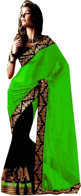 Jhalak Embellished, Embriodered, Paisley, Printed, Self Design, Solid Bollywood Georgette Sari