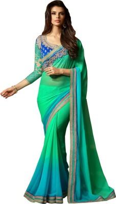 Amayra Fashions Embriodered Fashion Georgette Sari