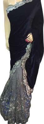 Lakmeart Embriodered Fashion Velvet Sari