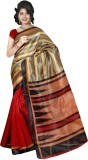 Varibha Plain Fashion Silk Saree (Multic...