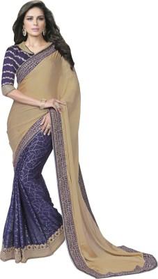 Manish Creation Embriodered, Self Design Bollywood Chiffon, Silk Sari