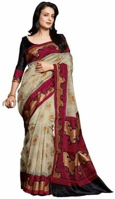 FASHION N DEALS Printed Bhagalpuri Art Silk Sari