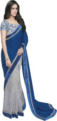 Manish Creation Embellished, Self Design, Embellished Bollywood Georgette, Brocade, Net Sari