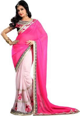 DIVINEFASHIONSTUDIO Embriodered Fashion Georgette Sari