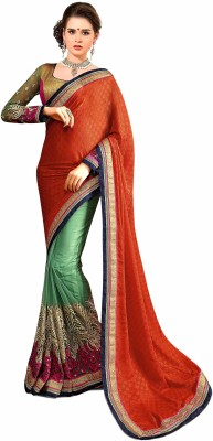 DIVINE FASHION STUDIO Embriodered Fashion Jacquard Sari
