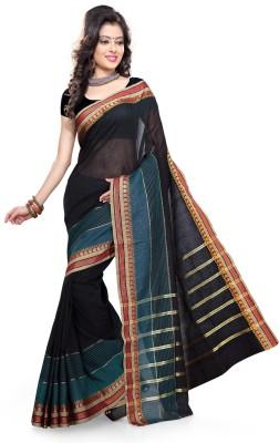 Shama Self Design Fashion Handloom Cotton Sari