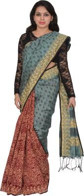 AtiGrens Hand Painted Phulia Cotton Sari