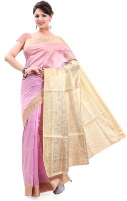 Sagar Exports Self Design Mysore Poly Silk Sari