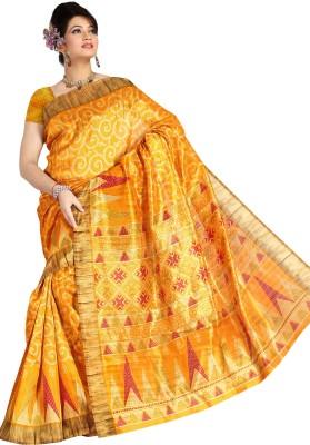 indianfashionlady Printed Bhagalpuri Synthetic Sari