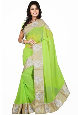 Jassu Fashion Hub Self Design Fashion Georgette Sari