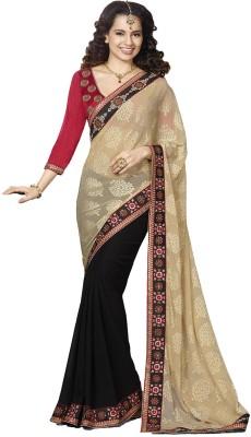Kaseesh Self Design Fashion Georgette Sari