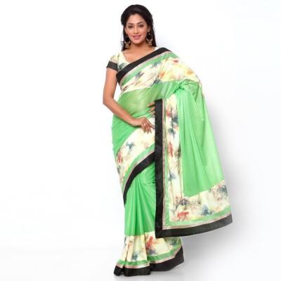Ziyaa Solid Fashion Lycra, Crepe Sari