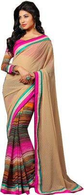 Marudhar Kesri Printed Fashion Georgette Sari