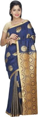 Srinidhi Silks Plain Kanjivaram Poly Silk Sari