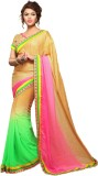 Stylish Girls Embroidered Fashion Net Sa...