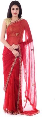 Shri Krishnam Embriodered, Embellished Fashion Chiffon Sari