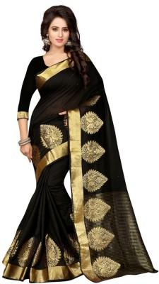 Style U Self Design Bollywood Polycotton Sari
