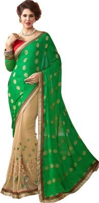 Blissta Embriodered, Embellished Fashion Georgette, Jacquard Sari